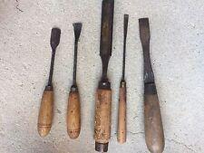 LOT 5 outils ancien ciseaux à bois (peugeot et autres) / menuisier / ébéniste