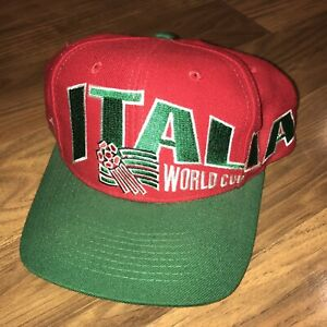 Vtg 1994 USA World Cup ITALY Team Cap SOCCER Hat Apex One 90s Snapback ITALIA