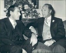 1975 Canada Prime Minister Pierre Trudeau With Jeremy Thorpe Press Photo