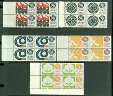 EDW1949SELL : MEXICO 1987-88 Scott #1501-05 Blocks of 4. VF, Mint NH. Cat