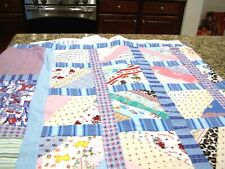 Quilt top, childrens theme, twin size, boy theme, c. 1980s