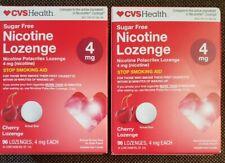 CVS Nicotine Lozenge 4 mg Cherry Flavor - 192 Lozenges - Exp. 3/2022