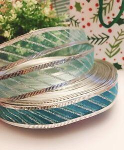 "10 yards Holiday Christmas Wired 1"" Sheer Ribbon/Craft/Organza/Gift R105-Color*"