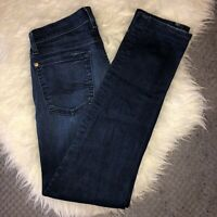 7 FOR ALL MANKIND Roxanne Womens Dark Wash Stretch Skinny Jeans Pants Sz 27