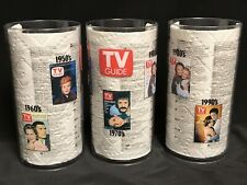 Tv Guide Plastic Tumblers Set of (3) Lucy Sony & Cher X Files Bewitched