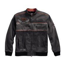 Harley-Davidson Men's Iron Bloc Casual Veste Taille XXL-Messieurs, gris