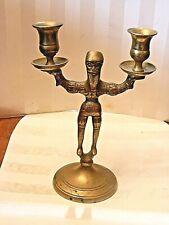 Rare Brass Candlestick Russian Medieval and Renaissance period