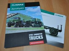 Kraz Steel Character Folder Trailer Army Military Truck Brochure Prospekt UA ENG