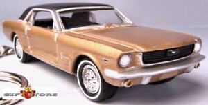 RARE! KEY CHAIN 1964 ½ 1965 PRAIRIE BRONZE GOLD FORD MUSTANG GT COUPE 64 ½ 65/66