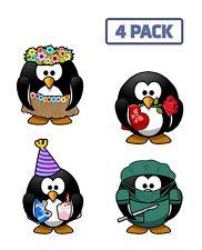 Cartoon Bird Owl Pirate Parrot Multipack Sticker Vinyl Decal 4 Pack 1-546