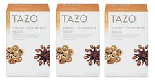 Tazo Sweet Cinnamon Spice Herbal Tea - 3 Boxes - 60 Tea Bags