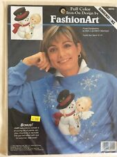 DIMENSIONS ~ Fashion Art - Christmas - Frosty Companions - Iron-On - 80412