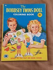 Vintage THE BOBBSEY TWINS DOLL Coloring & Cut-Out Doll Book (1958) NEW*