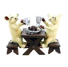 Wiener bronce Hofbräu cerdos en cerveza y Kashubians mano pintado & con sello