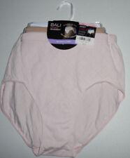 3 Bali Nylon Brief Panty Set Seamless No Ride Up 10/11 Pink Beige White NWT