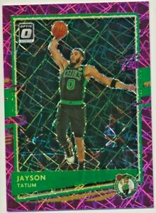 2020-21 Donruss Optic Jayson Tatum 48/79 Celtics Pink Velocity Prizm Refractor