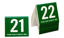Table Numbers 21-40, Tent Style, Green w/white number, Free shipping
