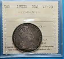Canada Canadian Silver Half 1/2 Dollar 50 Cent Coin 1903 H - ICCS Certified