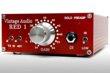 VINTAGE AUDIO: RED SOLO PREAMP, DESKTOP BOUTIQUE MIC PREAMP AND DI!