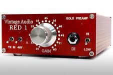 Preamplificador Vintage Audio: Rojo Solo, Desktop Boutique preamplificador de micrófono y di! Transformador