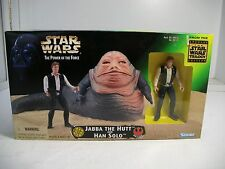 Star Wars Power Of The Force JABBA THE HUTT AND HAN SOLO New Sealed 1997