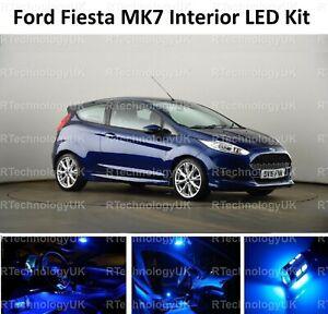 BLUE PREMIUM for FORD FIESTA INTERIOR LED UPGRADE KIT 2009 - 2017 MK7 MKVII