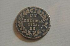 LOUIS XVIII 1 DÉCIME 1815 BB