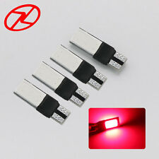 4PCS COB LED Red Bright Car T10 Wedge Lights Bulb W5W 194 168 2825 12V Lamp
