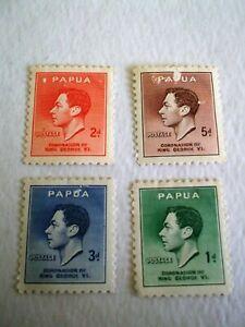 1937 Papua Coronation of King George vi m/m Mi.106/109. E1
