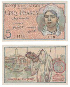 ALGERIA 5 Francs Banknote (1944) P.94b - UNC.