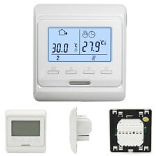AC 230V 2W IP20 Digital LCD Display Programmable White Floor Heating Thermostat
