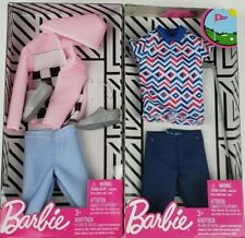 Barbie Ken Fashion Jacket & Pants & Golf outfit clothing packs lot of 2