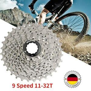 9 Fach MTB Fahrrad Kassette Zahnkranz Ritzelpaket 11T-32T Ritzelblock Freilauf k