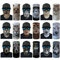 Animals Print Balaclava Outdoor Motor Head Face Tube Scarf Neck Cover Gaiter