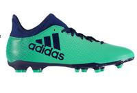 ADIDAS X 17.3 Junior FG Football Boots Green/Navy Boys Size UK 5.5 *REFCRS38