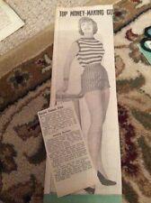 Q1-n Ephemera 1950s Article Actress Bridie Corsie Singer
