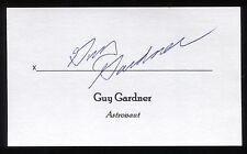 Guy Gardner Signed 3x5 Index Card Signature Autographed NASA Astronaut Space