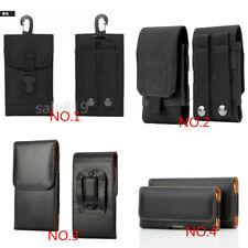 Luxury Waist Belt Clip Holster Pouch Pocket Card Wallet Bag Black Case Cover
