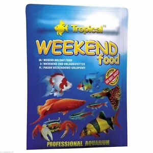 WEEKEND & HOLIDAY FISH FOOD (Genuine professional easy to use fish vacation food