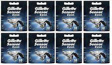 Gillette Sensor Excel Razor Blade Refills, BRAND NEW, 80 Cartridges