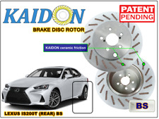 "Lexus IS200T brake disc rotor KAIDON (REAR) type ""BS"" / ""RS"" spec"