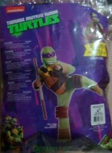 Boys Child Teenage Mutant Ninja Turtles Deluxe Padded Donatello Purple Costume