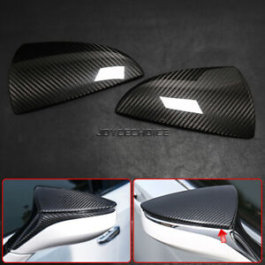 For Lexus UX ES LC LS RC F RS Real Carbon Fiber Side Rear View Mirror Cover Caps