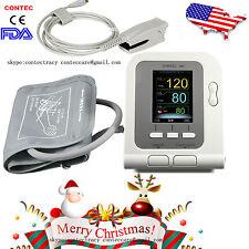 CE&FDA CONTEC Blood Pressure Monitor,USB SpO2 Probe,Pulse Rate Meter,US seller