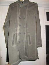 BNWT £50 River Island Coat Jacket S EU 2 8-10-12 Grey Dark Fabric Distressed