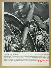 1965 Honda Super Hawk Motorcycle superhawk photo vintage print Ad