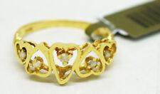 GENUINE DIAMOND HEART RING 14K YELLOW GOLD* NWT * Free Appraisal Service