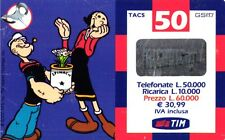 1386 SCHEDA RICARICA USATA TIM POPEYE 26-P 50 SETT.2003 OCR 16 CAB 28