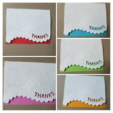 Embossed Note Cards Thank you- 5 (4 x 5) With Envelopes - Blank Inside
