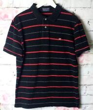 Ralph Lauren Polo Shirt Hemd Kurzarm Herren Schwarz Rot Weiß Gestreift Gr. M